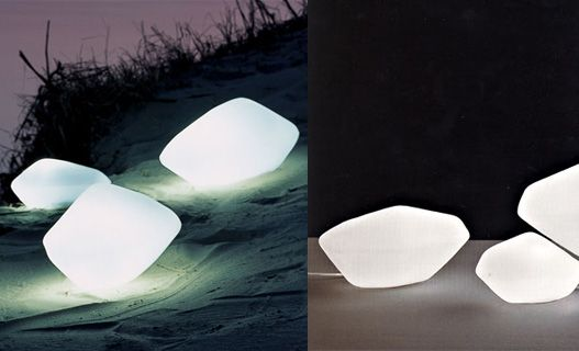 http://inhabitat.com/glowing-rock-lamps-oluce-stones/    Or, when magic happens onstage, the rocks could glow like this! :D