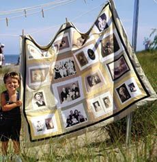 photo quilts are such a great gift idea!! I'd love to make one for my parents! this may be my first full craft project!!