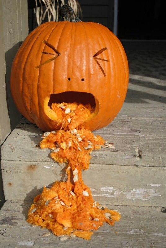 Throw Up Pumpkin Diy Pumpkin Halloween Feeling Sick