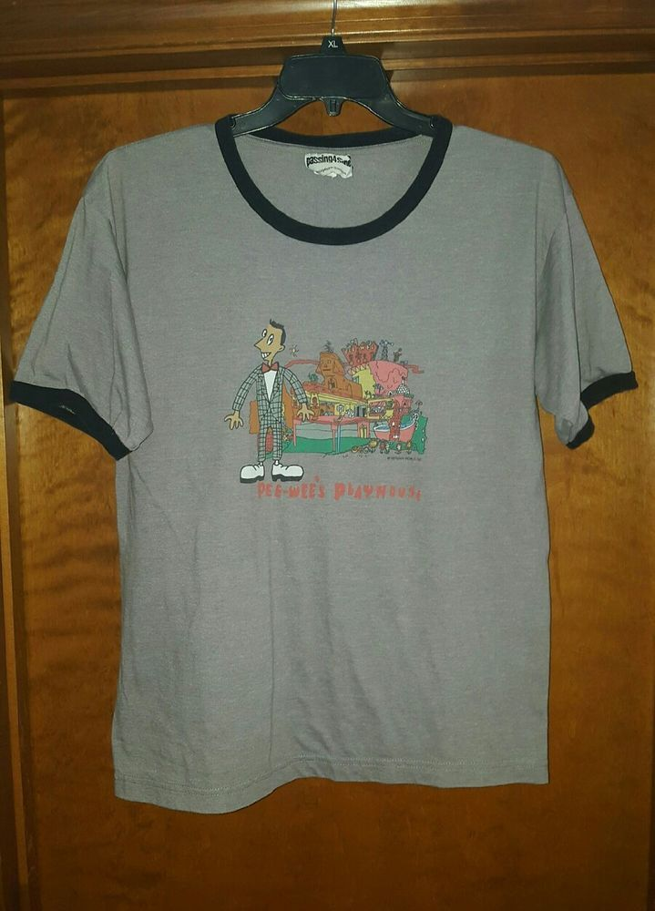 Pee-Wee's Playhouse T Shirt Size Large Rare Paul Ruebens Pee Wee Herman USA Made Great Condition Amazing Shirt! | eBay!