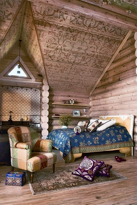without words....Decor, Dreams Bedrooms, House Design, Design Bedroom, Ceilings Details, Bedrooms Interiors, Bohemian Bedrooms, Logs House, Logs Cabin