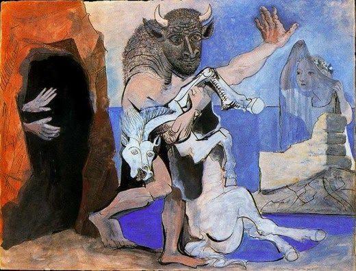 Ο Μινώταυρος με ένα άλογο (1936)