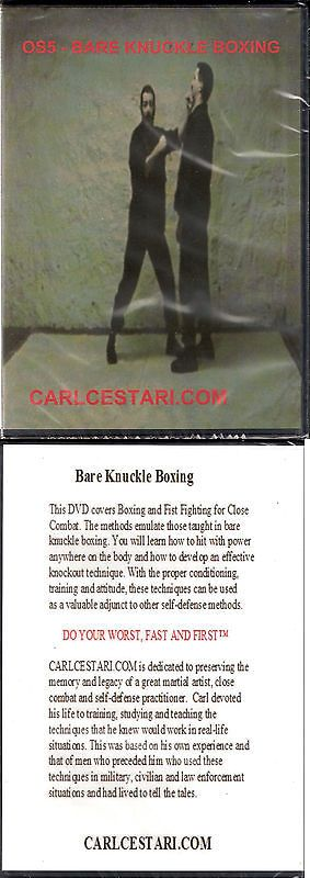 DVDs Videos and Books 73991: Carl Cestari Bare Knuckle Boxing Dvd Self Defense Street Fighting Mma Martial -> BUY IT NOW ONLY: $35 on eBay!