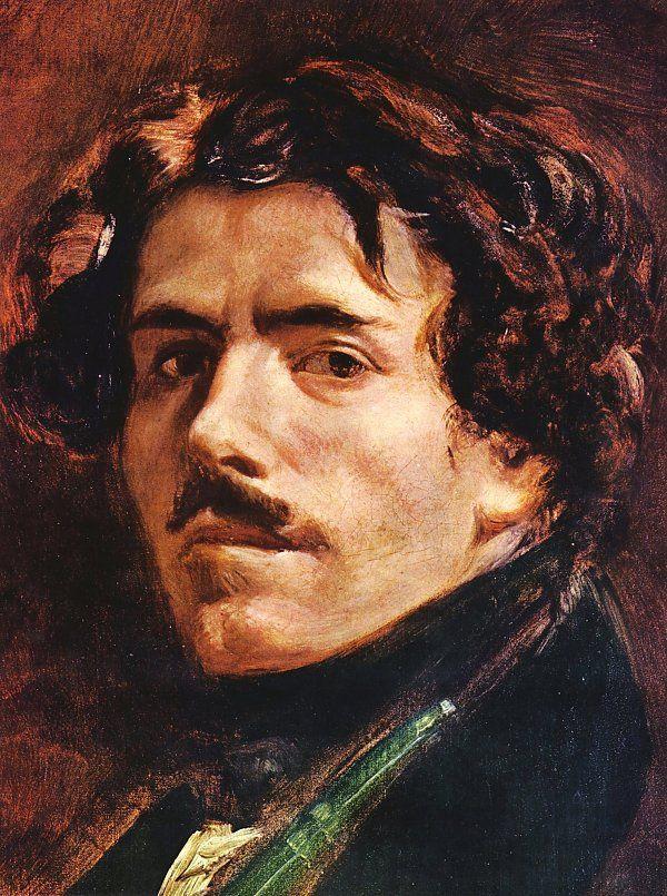 Eugène+Delacroix | Eugene Delacroix SelbstPortrait Detail Wandbild auf Leinwand ...