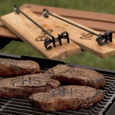 Monogrammed steak brander.