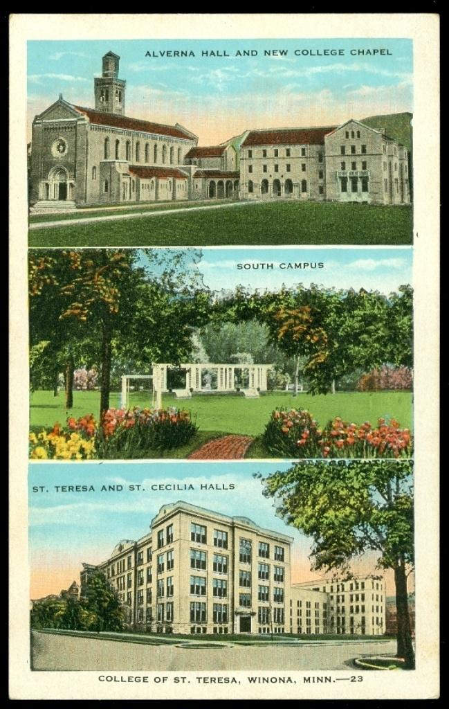 College of St. Teresa Winona Minnesota Postcard