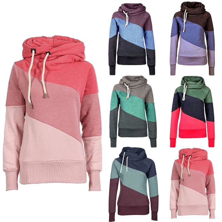 Women's Color Block Pullover Hoodies