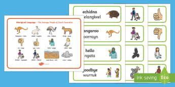 Gunditjmara Aboriginal Language Word Mat and Word Card Resource Pack - Australian Curriculum, Aboriginal and Torres Strait Islander Peoples, justice,  marriage, birth, res