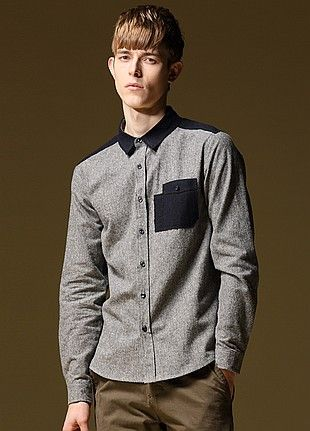 Allin Menswear Shirt-Grey