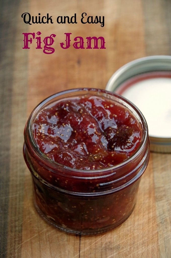 Quick and Easy Fig Jam Recipe.  This is one easy jam recipe that needs NO pectic and NO canning!  Great on toast or crackers!