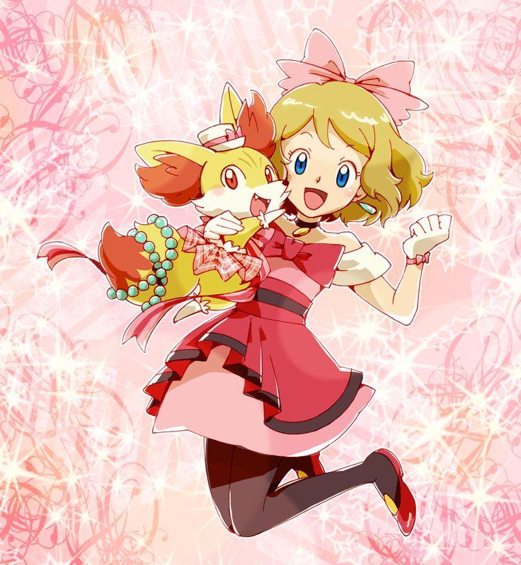 Pokemon Serena and Fennekin - Serena (Pokemon XY) Fan Art (38214772) - Fanpop