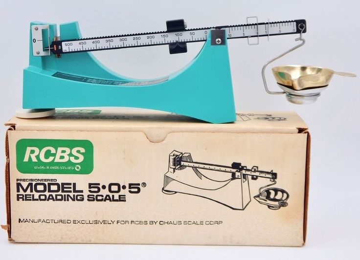 Vintage RCBS OHAUS Model 5.0.5 Reloading Scale NEW OLD STOCK  | eBay