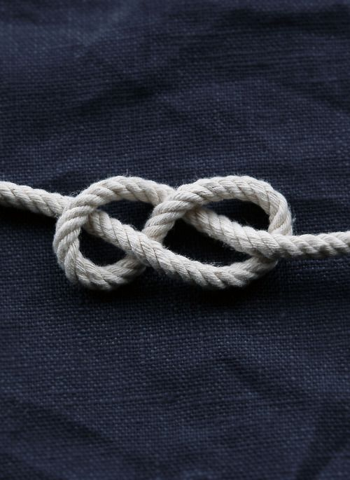 linen + rope | #nautical - maybe a curtain tie-back