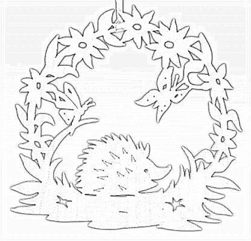 DIY: Hedgehog. Free paper craft. Stencil/template/pattern.