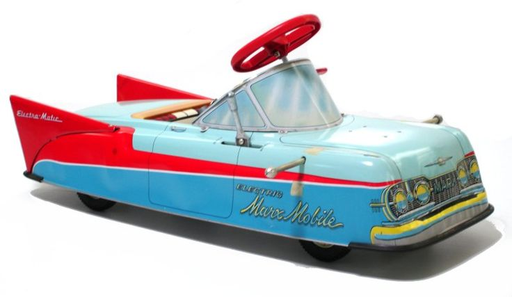 "Electric/battery powered ""Marx-Mobile"", Lewis Marx Co., a poor seller in production from 1955-1959"
