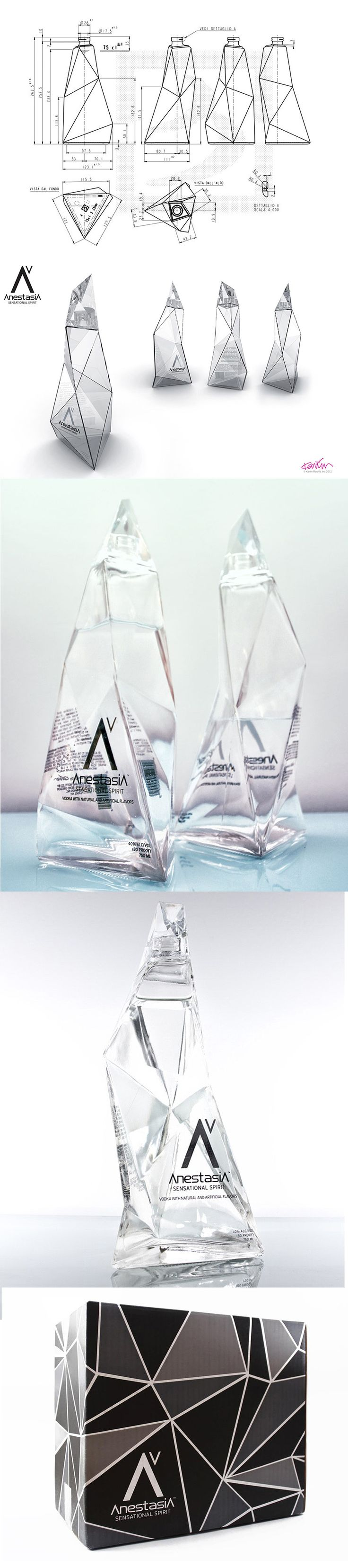 Karim Rashid's packaging designs for AnestasiA Vodka from start to finish. Todos se suben al low poly, dentro de unos años va a ser como la sombrita de photoshop.