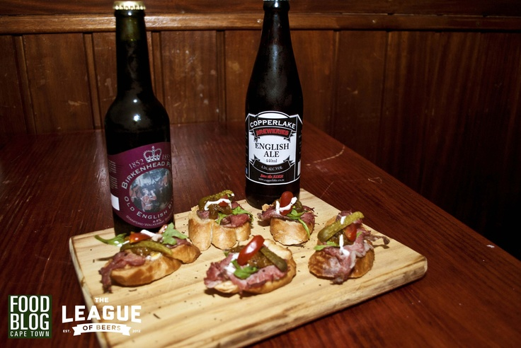 Dish 2: Rare Roast Beef Crostini paired with Birkenhead Bitter & Copperlake English Ale. Stronger, dark meat to balance dark ales