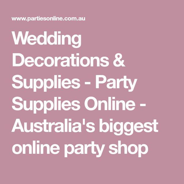 Best 25 online party supplies ideas on pinterest party supplies wedding decorations supplies party supplies online australias biggest online party shop junglespirit Gallery