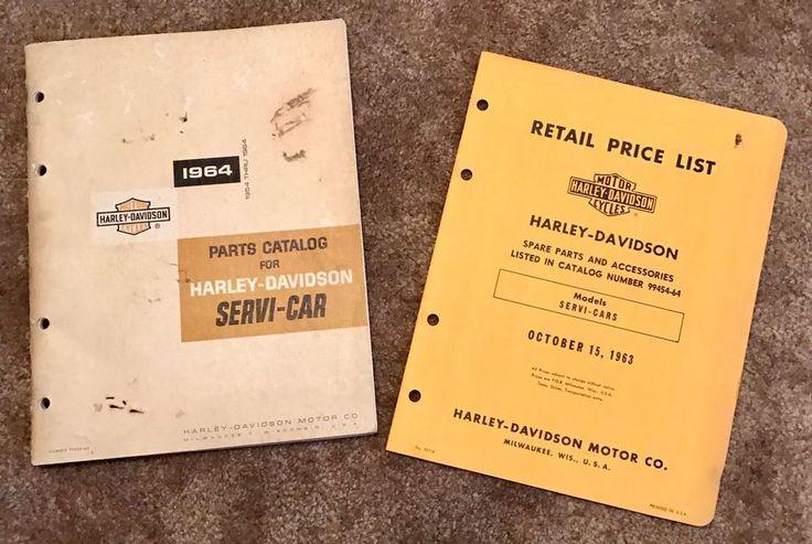 1964 Parts Catalog For Harley Davidson Servi-Car & 1963 Retail Price List  | eBay