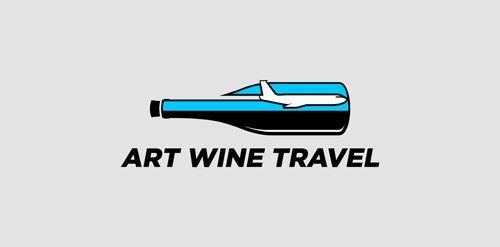 Art Wine Travel Logo Design