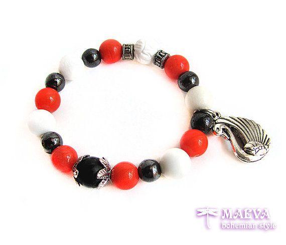 Beautiful #gemstone stretch #bracelet with by Maeva Bohemian Style