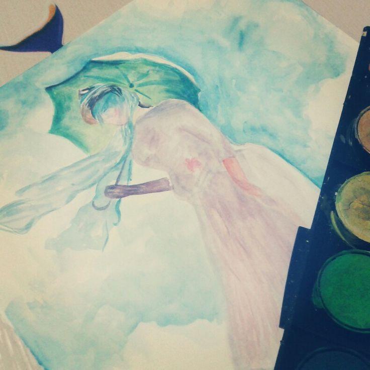 Watercolour sketch, Claude Monet