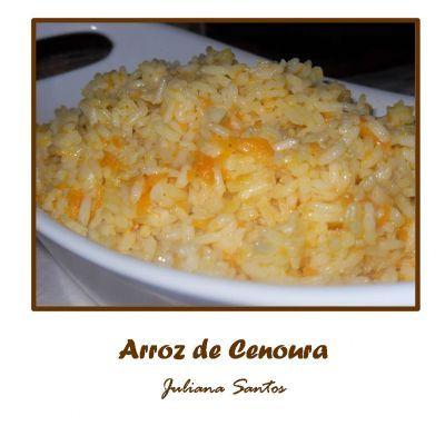Receitas - Arroz de cenoura - Petiscos.com