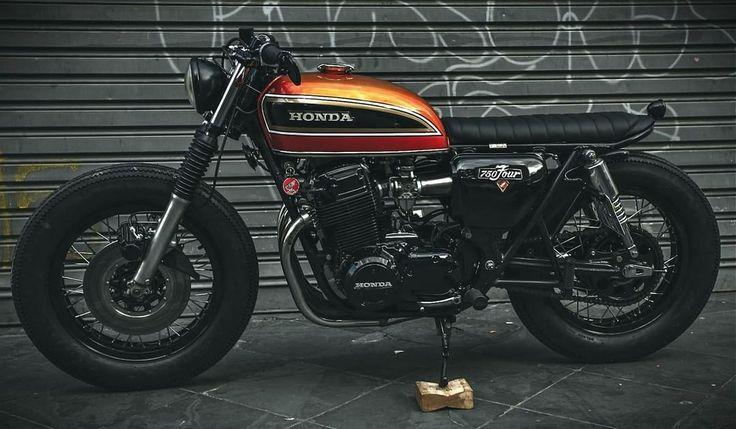 caferacerpasion.com  Honda CB750 Brat Style by Recar Motors [TAGS] #caferacerpasion #honda #caferacersofinstagram #caferacerxxx #caferacerporn #caferacergram                                                                                                                                                                                 Más