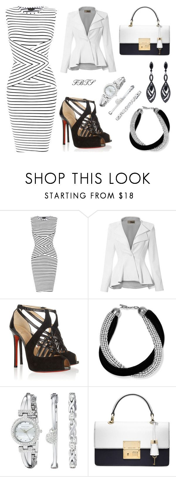 """""""She's A Cool Lady"""" by flybeyondtheskies ❤ liked on Polyvore featuring Christian Louboutin, Yves Saint Laurent, Anne Klein and Michael Kors"""