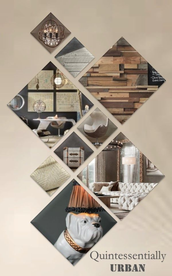 Interior Design Portrait layout presentation board