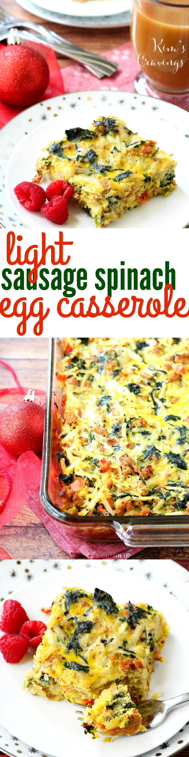 This Light Sausage Spinach Egg Casserole is the perfect make-ahead breakfast to enjoy Christmas morning. Comforting and flavorful, this dish will fuel all that gift-giving! @biglots #ad #BigLots #BIGseason