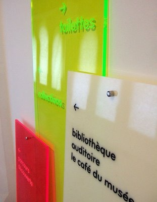 Acrylic Wayfinding by Designlab: Museum Charleroi