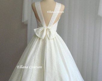 Shirley Swiss Dot Cotton Wedding Dress. Vintage by EllanaCouture