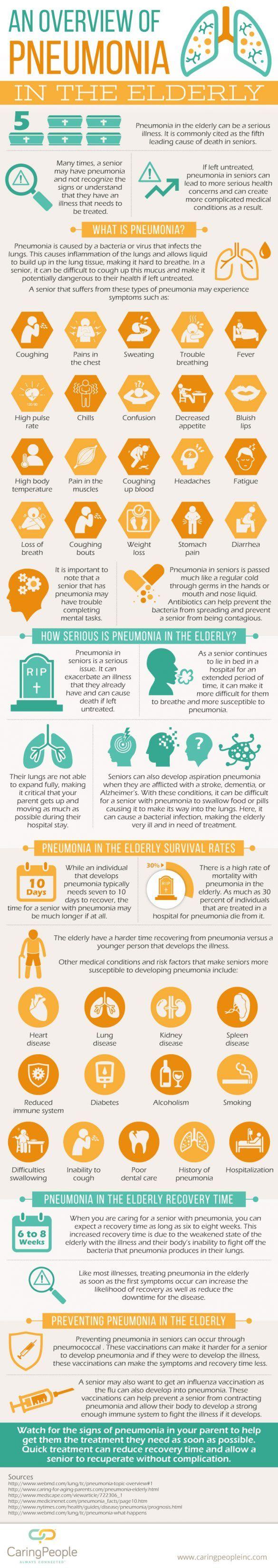 Pneumonia In The Elderly Infographic