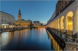 Michael Valjak - Hamburg Rathaus und Alsterarkaden