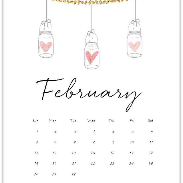 February 2019 Calendar Bullet Journal February Calendar Page Printable   Bujo   February bullet journal