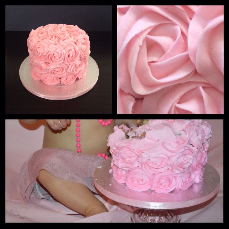 Roses Buttercream cake