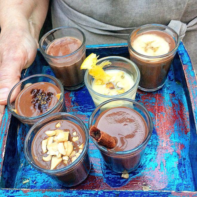Chocolate quente em várias versões