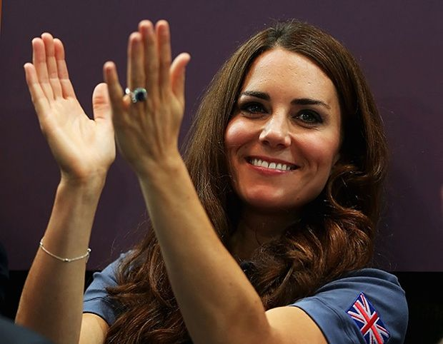 wills and kate olympics: Kate at the Team GB Women's Handball Preliminaries against Croatia