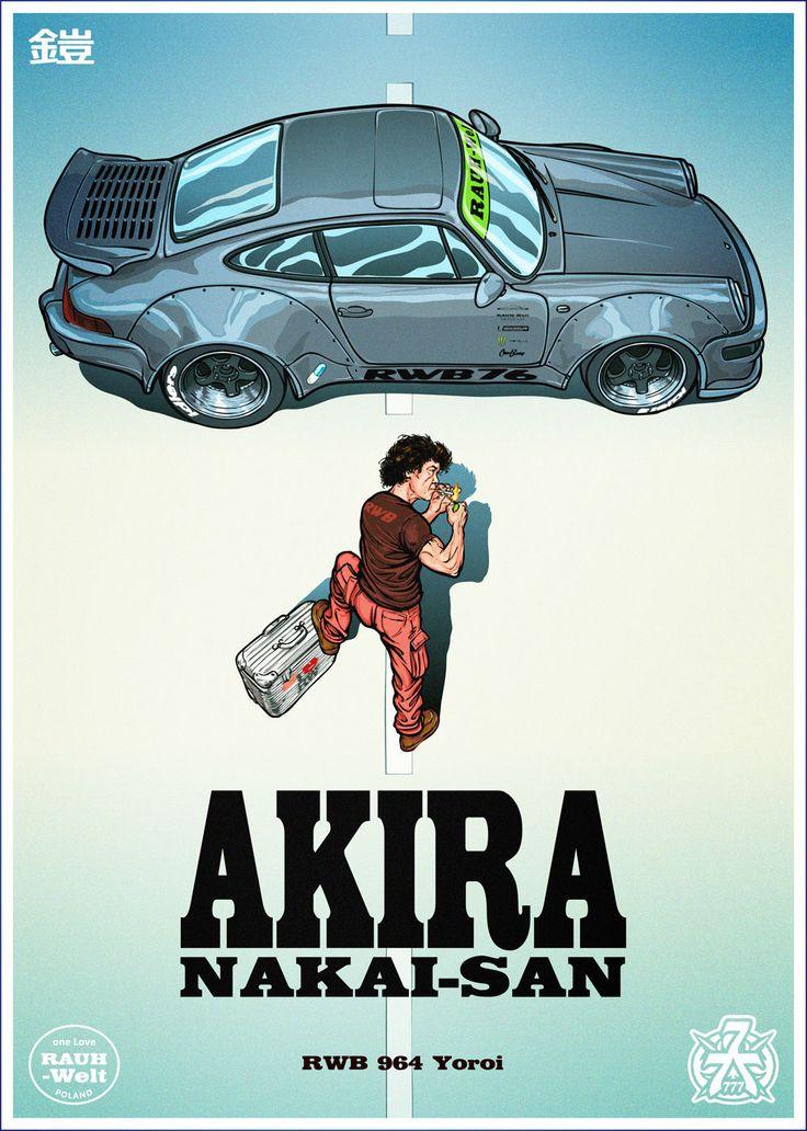 Akira Poster   With Nakai San U0026 RWB 964 Yoroi On Behance