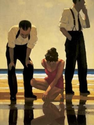 Jack Vettriano. Narcissistic bathers.