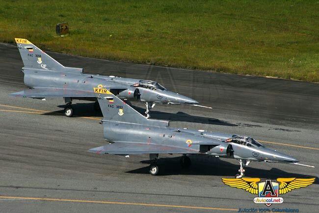 IAI Kfir C7 . Fuerza Aerea Colombiana. 1989-