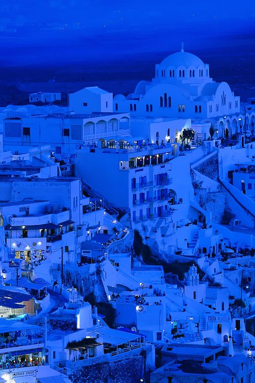 Blue Dusk, Santorini, Greece