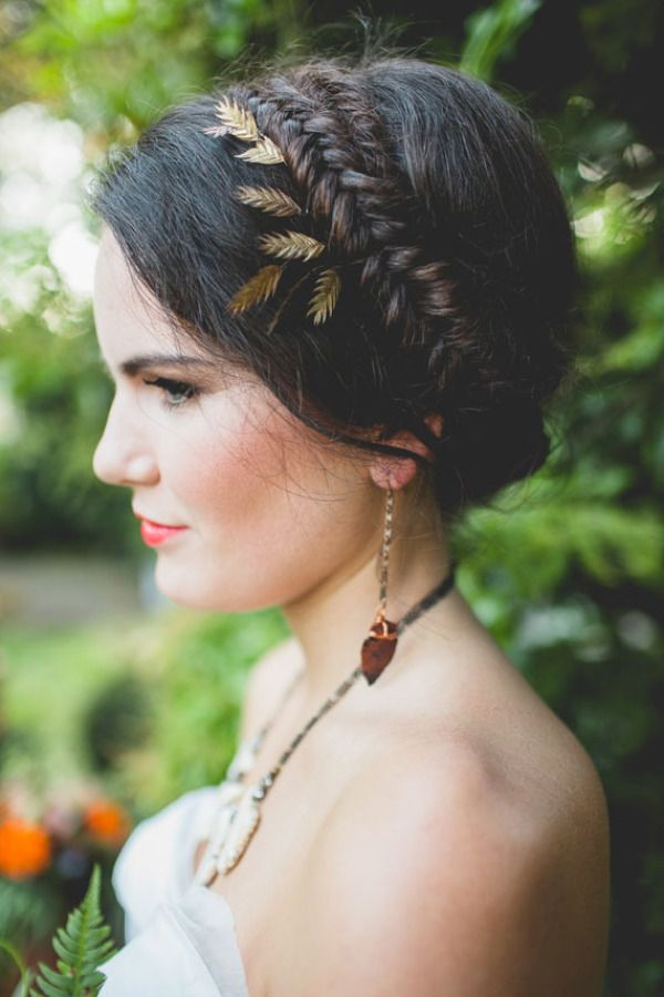 Tightly plaited fishtail crown: http://www.stylemepretty.com/2015/04/12/20-bridal-fishtail-braids-we-love/