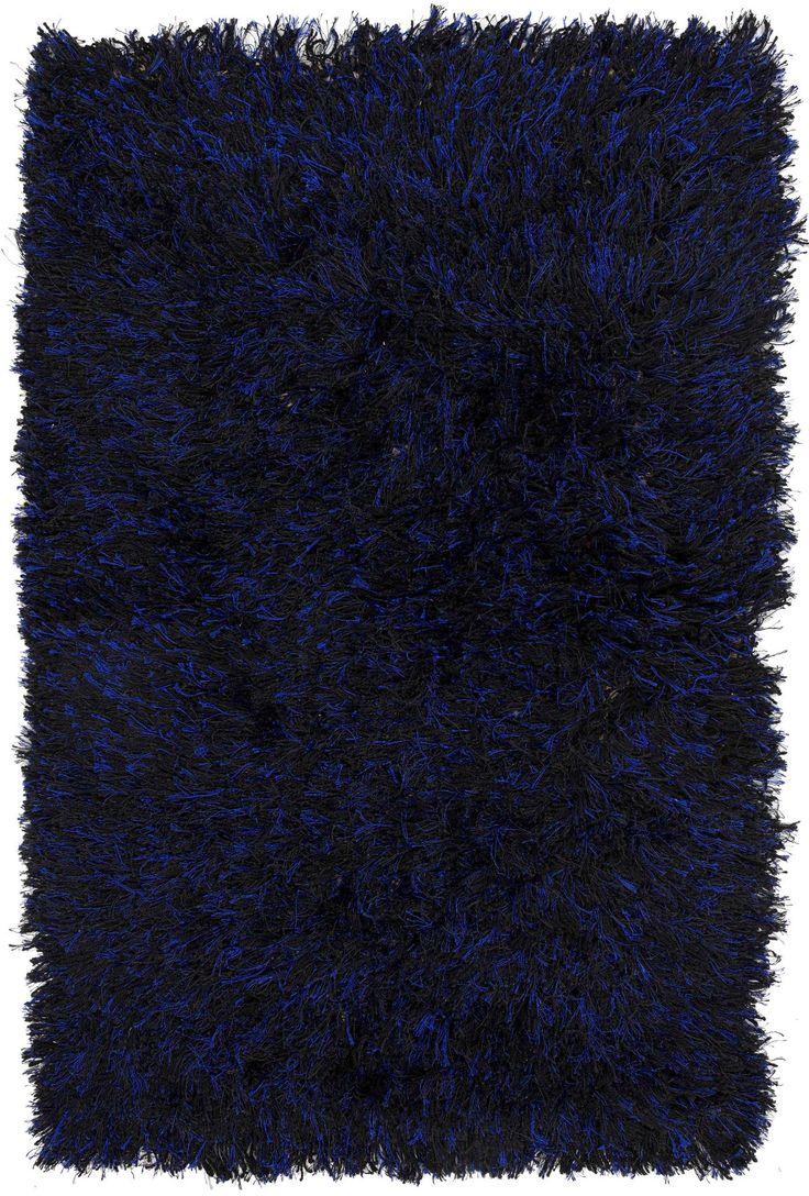 3x4 Navy Blue Shag Rug