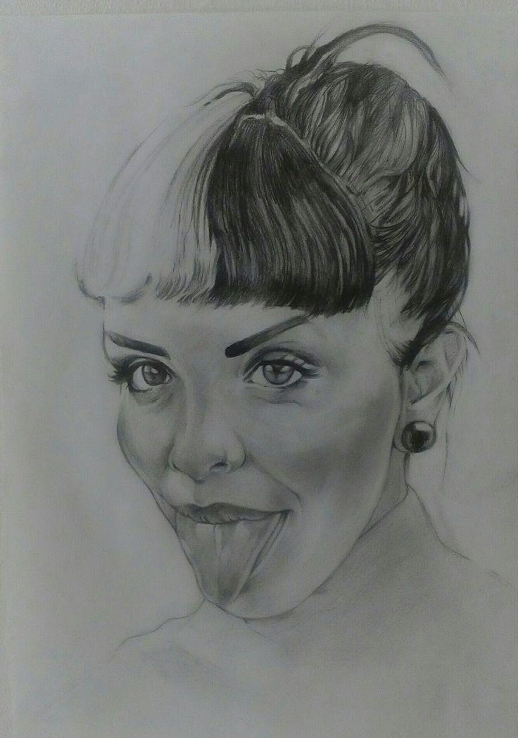 Sketch Potrait on Canson Paper A3 By Artist Mike Eleftheriou  Potrait: Melanie Martinez
