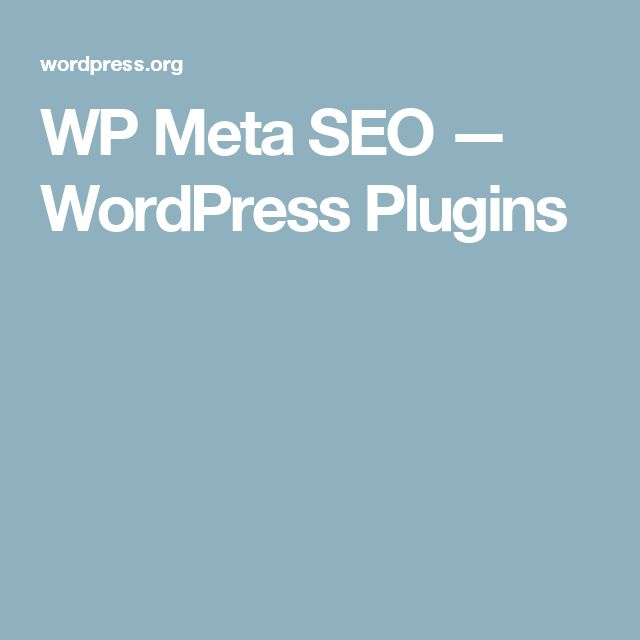 WP Meta SEO — WordPress Plugins