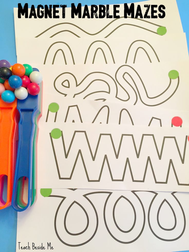Magnetic Marble Mazes- printable mazes. Great magnet science and STEM activity for kids! Preschoolers