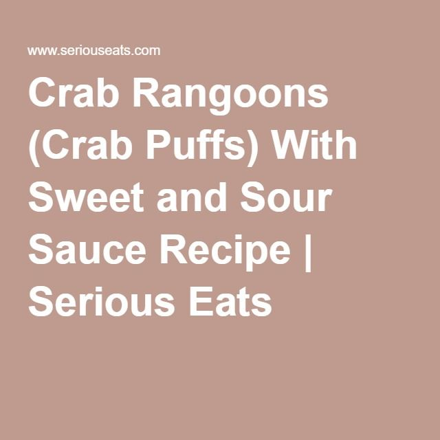 Crab Rangoons (Crab Puffs) With Sweet and Sour Sauce Recipe | Serious ...