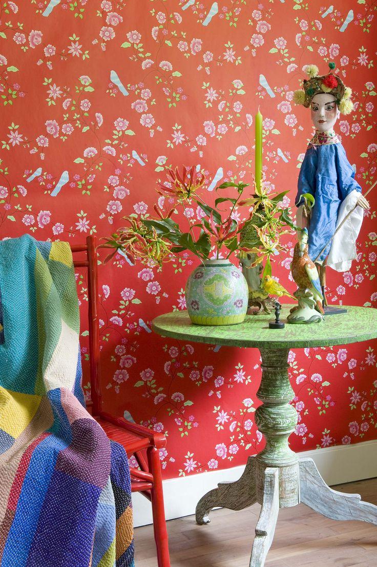 'Bird Branches' Wallpaper Design 2000113 (10 metres x 53cms) #Paper Moon #Wallpaper #Coordonne #Room Seven
